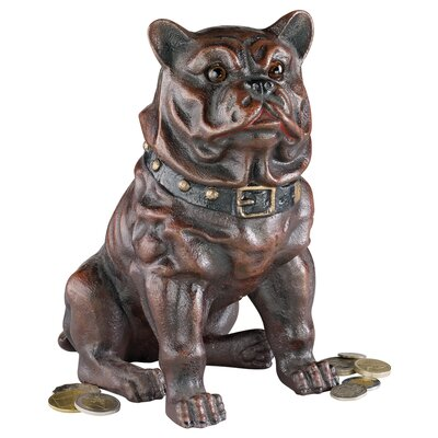 Boss, the Sitting British Bulldog Collectors Still Action Coin Bank