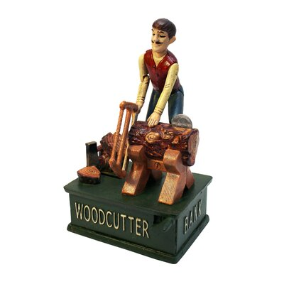 Recurrent Motion Woodcutter Mechanical Coin Bank
