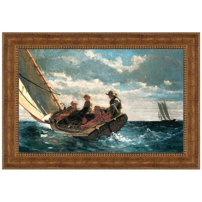Breezing Up (A Fair Wind), 1876 by Winslow Homer Framed Painting Print P03571