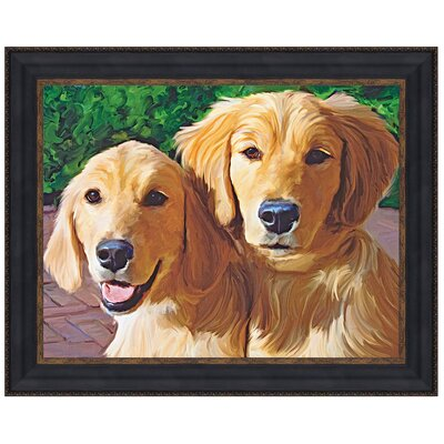Dogs That I Know, Golden Retriever Puppy Graphic Print Art P04471