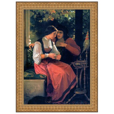 The Proposal, 1872 by Adolphe William Bouguereau Framed Painting Print Size: Grande P03024