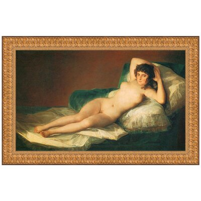 The Nude Maja (La Maja Desnuda), 1800 by Francisco Goya Framed Painting Print P02151
