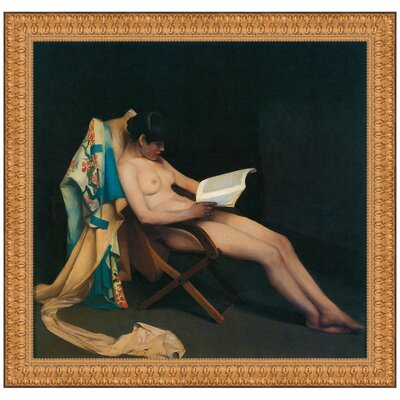 The Reading Girl, 1887 by Theodore Roussel Framed Painting Print P02341