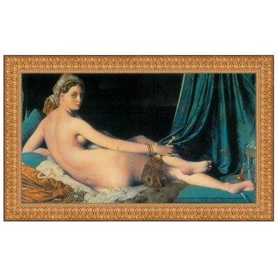 Le Grande Odalisque, 1814 by Jean Auguste Dominique Ingres Framed Painting Print Size: Medium P02162