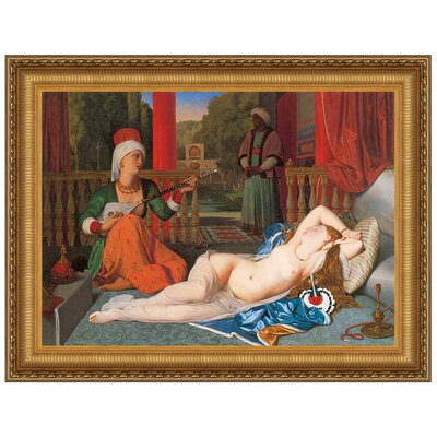 Odalisque with Slave, 1842 by Jean Auguste Dominique Ingres Framed Painting Print Size: Grande P02174