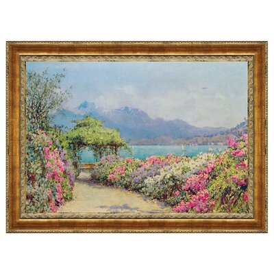 Lake Como from the Villa by Ernest Arthur Rowe Framed Painting Print P01581