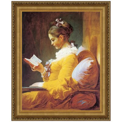 A Young Girl Reading, 1770 - 1772 by Jean-Honore Fragonard Framed Painting Print Size: Grande P01814