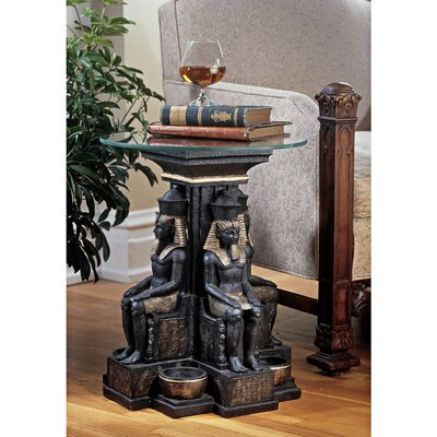 Ramses II Egyptian Sculptural End Table Number of Tables: 1