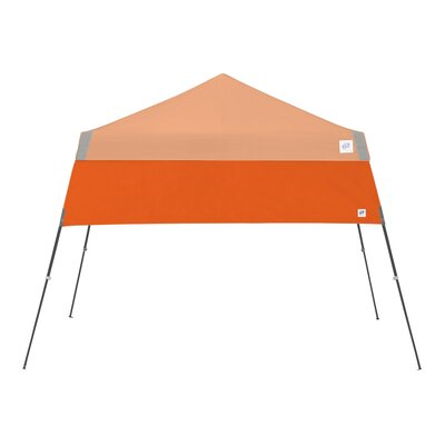 Recreational Half Wall with Angle Leg Color: Steel Orange