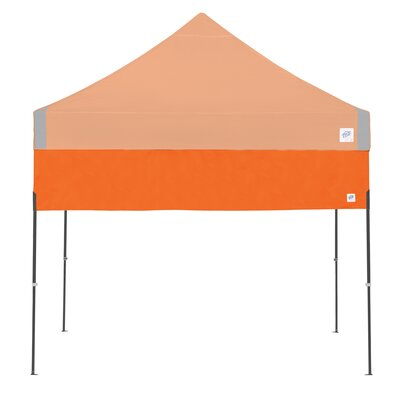 Recreational Half Wall with Straight Leg Color: Steel Orange