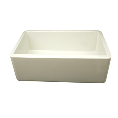 Duet 30 x 18 Single Bowl Farmhouse Kitchen Sink Finish: Biscuit