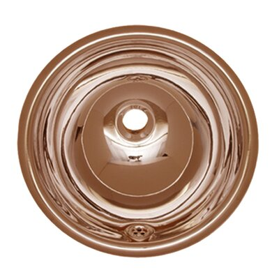 Decorative Smooth Self Rimming Bathroom Sink Sink Finish: Polished Copper