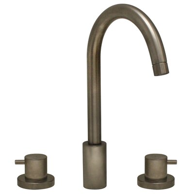 Luxe Widespread Bathroom Faucet with Double Handles Finish: Brushed Nickel