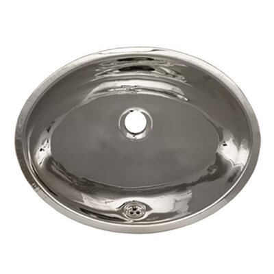 Decorative Metal Oval Undermount Bathroom Sink with Overflow Sink Finish: Polished Stainless Steel