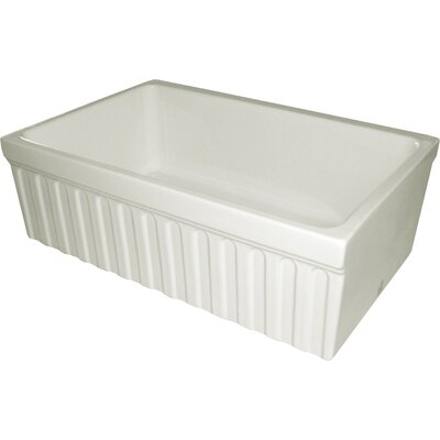 FarmhausQuatro 30 x 20 x 10 Single Bowl Farmhouse Kitchen Sink Finish: Biscuit