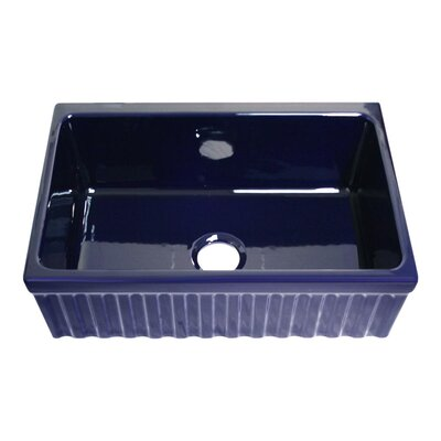 FarmhausQuatro 30 x 20 x 10 Single Bowl Farmhouse Kitchen Sink Finish: Sapphire Blue