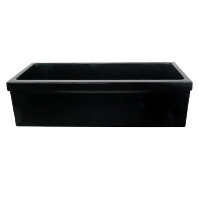 FarmhausQuatro 30 x 20 Single Bowl Farmhouse Kitchen Sink Finish: Black