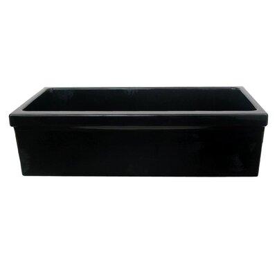 FarmhausQuatro 30 x 20 Single Bowl Farmhouse Kitchen Sink Finish: Black