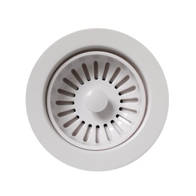 3.5 Basket Strainer for 3.5 Kitchen Sinks Finish: White