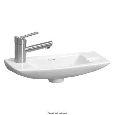 Isabella Ceramic 18 Wall Mount Bathroom Sink Faucet Mount: Left Hand