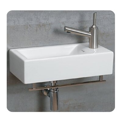 Isabella 19.75 Wall Mount Bathroom Sink Faucet Mount: Right Hand