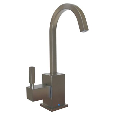 Forever Hot 7 One Handle Single Hole Hot Water Dispenser Kitchen Faucet with Gooseneck Spout Finish: Brushed Nickel