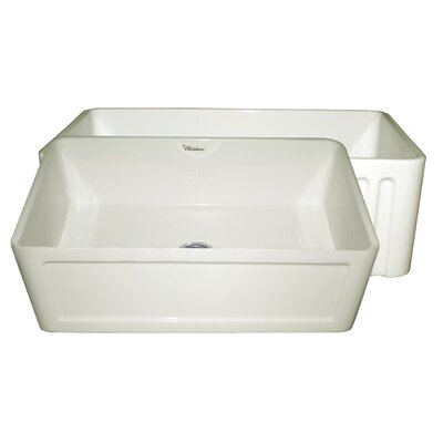 Farmhaus 30 x 18 Single Bowl Farmhouse Kitchen Sink Finish: Biscuit