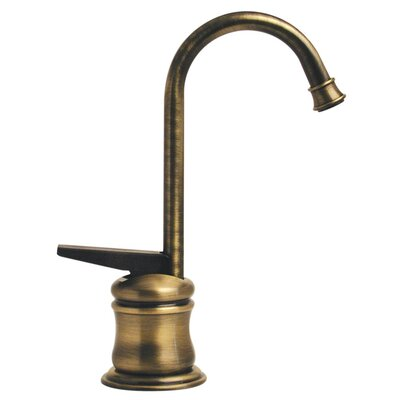 Forever Hot 5.25 One Handle Single Hole Hot Water Dispenser Faucet with Gooseneck Spout Finish: Antique Brass