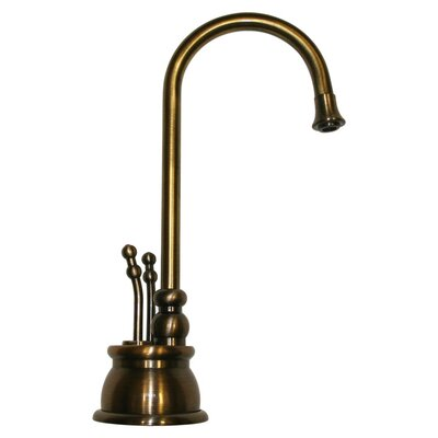 Forever Hot 8 Two Handle Single Hole Instant Hot and Cold Water Dispenser Faucet Finish: Antique Brass