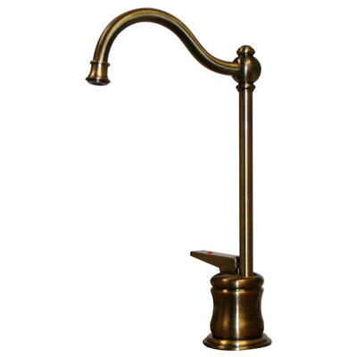 Forever Hot One Handle Single Hole Kitchen Faucet Finish: Antique Brass