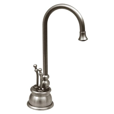 Forever Hot 8 Two Handle Single Hole Instant Hot and Cold Water Dispenser Faucet Finish: Brushed Nickel