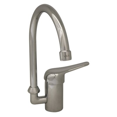 Flamingo II One Handle Single Hole Kitchen Faucet with Gooseneck Swivel Spout Finish: Polished Chrome