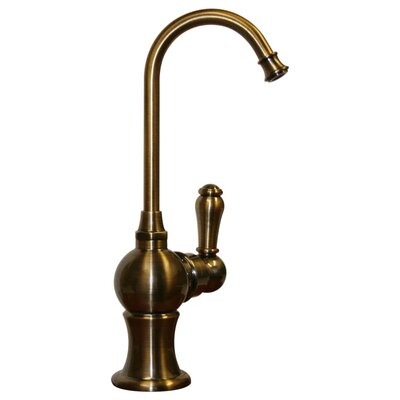 Forever Hot 7 One Handle Single Hole Hot Water Dispenser Faucet with Gooseneck Spout Finish: Antique Brass