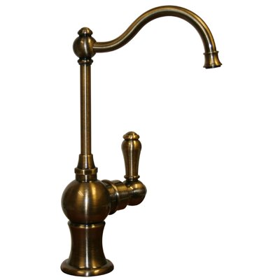 Forever Hot 7 One Handle Single Hole Cold Water Dispenser Faucet with Traditional Spout Finish: Antique Brass