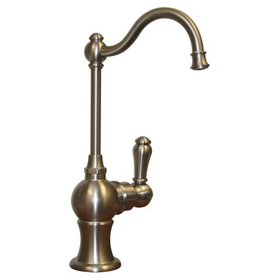Forever Hot 7 One Handle Single Hole Cold Water Dispenser Faucet with Traditional Spout Finish: Brushed Nickel