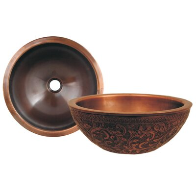 Copperhaus Circular Vessel Bathroom Sink Sink Finish: Smooth Copper