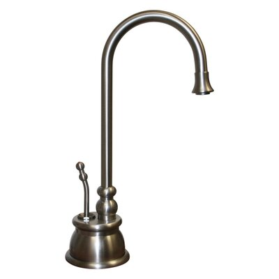 Forever Hot Single Handle Instant Hot Water Dispenser Faucet with Gooseneck Spout Finish: Brushed Nickel