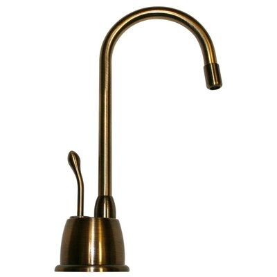 Forever Hot 6.875 One Handle Single Hole Instant Hot Water Dispenser Faucet Finish: Antique Brass