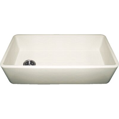 Farmhaus Fireclay 36 x 18 Duet Reversible Kitchen Sink with Smooth Front Apron Finish: Biscuit