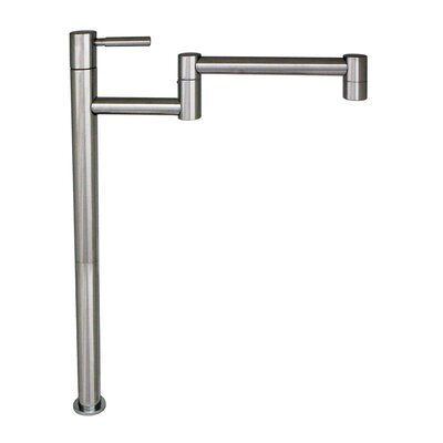 Decohaus Deck Mount One Handle Single Hole Tall Deck Mount Pot Filler Faucet Finish: Polished Chrome