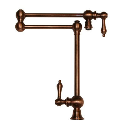 Vintage III Patented Deck Mount Two Handle Single Hole Pot Filler Faucet with Lever Handles and a Swivel Aerator Finish: Antique Copper