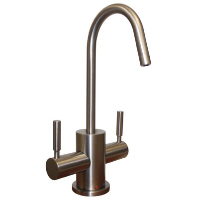 Forever Hot 6.5 Two Handle Single Hole Instant Hot and Cold Water Dispenser Faucet Finish: Brushed Nickel
