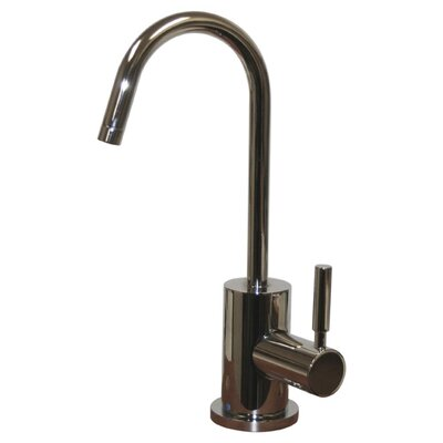 Forever Hot 6.875 One Handle Single Hole Hot Water Dispenser Kitchen Faucet with Gooseneck Spout Finish: Polished Chrome
