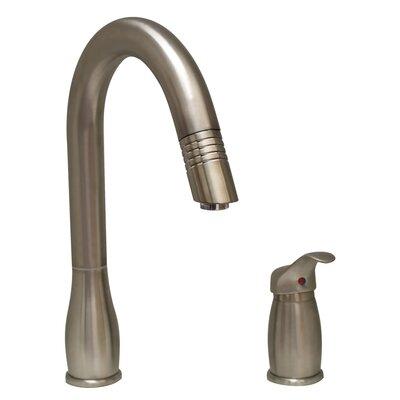 Metrohaus Pull Down Single Handle Kitchen Faucet Finish: Brushed Nickel