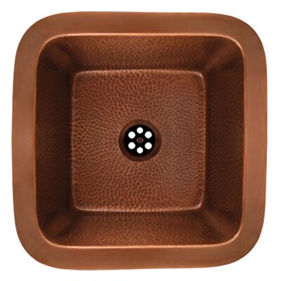 Copperhaus Square Undermount Bathroom Sink Sink Finish: Hammered Copper