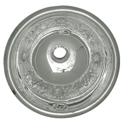 Decorative Metal Circular Drop-In Bathroom Sink with Overflow Sink Finish: Polished Stainless Steel