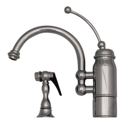 New Horizon One Handle Single Hole Kitchen Faucet Finish: Polished Chrome