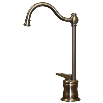 Forever Hot One Handle Single Hole Kitchen Faucet Finish: Brushed Nickel