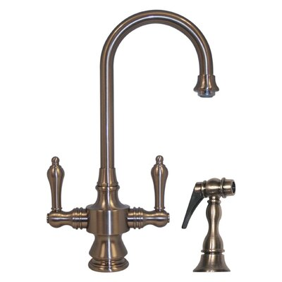 Vintage III Single Hole or Dual Handle Entertainment or Prep Faucet with Lever Handles and Side Spray Finish: Brushed Nickel