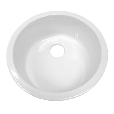 Elementhaus 18.25 x 18.25 Round Drop-In/Undermount Kitchen Sink